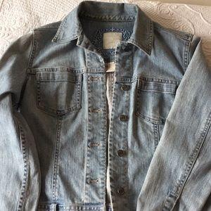 JJill Light wash denim jacket xs